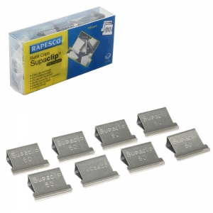 Rapesco Supaclip 60 Clips Stainless Steel CP10060S - Pack 100