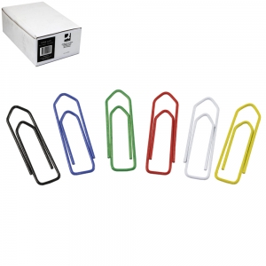 Paperclip 32mm Assorted Colours - Office Pack 10 x 75