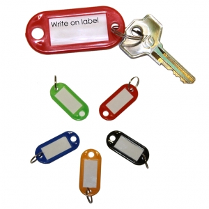 Key Hangers Assorted Colours - Pack 5