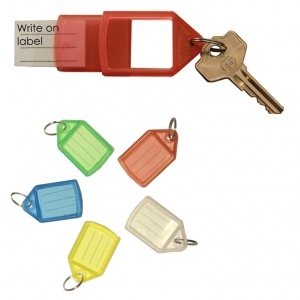Sliding Key Fob Medium Assorted - Pack 5