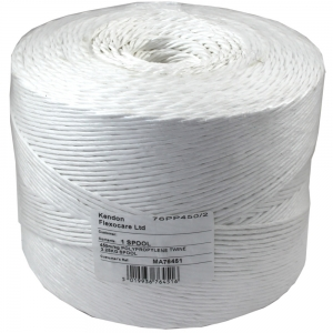 Flexocare Polypropylene Twine 2.25 Kg White - Pack Each