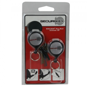 Key Reel Mini Clip Back 600mm Grey - Pack 2