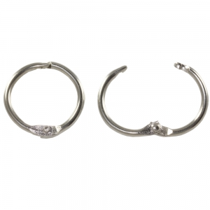 Binding Rings 19mm Silver - Pack 10