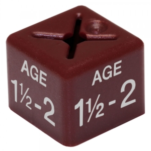 Coat Hanger Size Cubes Childrenswear Dual AGE 1.5-2 MAROON - Pack 50