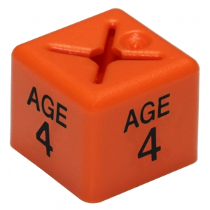 Coat Hanger Size Cubes Childrenswear AGE 4 ORANGE - Pack 50