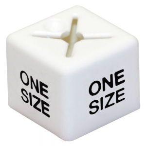 Coat Hanger Size Cubes Unisex ONE SIZE WHITE - Pack 50