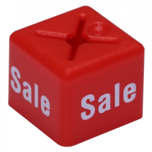 Coat Hanger Size Cubes Unisex SALE RED - Pack 50