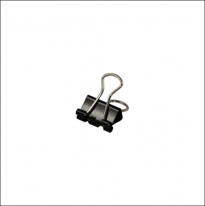 Foldback Clip 16mm Black - Pack Each