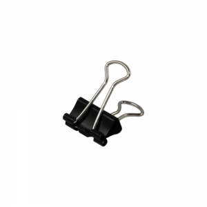Foldback Clip 19mm Black - Pack Each