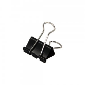 Foldback Clip 24mm Black - Pack Each