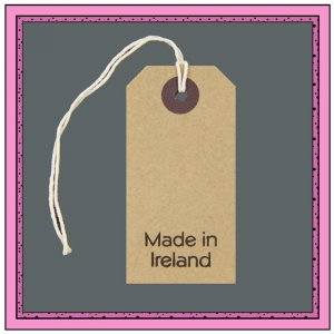 Buff Gift Tags MADE in IRELAND in Black 82mm x 41mm - Pack 10