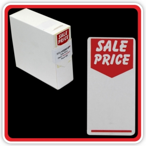 "S/A Permanent Label ""SALE PRICE"" 25 x 51mm (1x2"") - Pack 500"