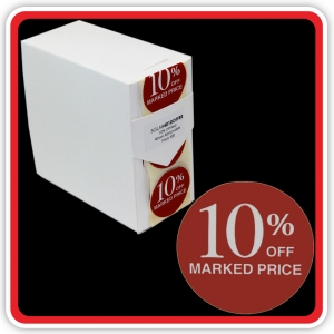 "S/A Removable Label ""10% OFF MARKED PRICE"" 40mm (1 1/2"") Red - Pack 500"