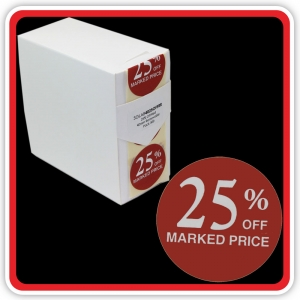 "S/A Removable Label ""25% OFF MARKED PRICE"" 40mm (1 1/2"") Red - Pack 500"