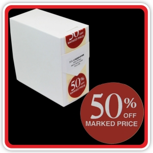 "S/A Removable Label ""50% OFF MARKED PRICE"" 40mm (1 1/2"") Red - Pack 500"