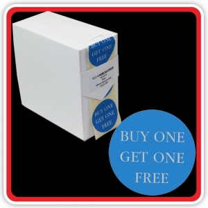"S/A Removable Label ""BUY ONE GET ONE FREE"" (BOGOF) 40mm (1 1/2"") Blue - Pack 500"