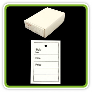 UnStrung UnPerforated Garment Ticket White 40mm x 62mm - Bulk Box 1000