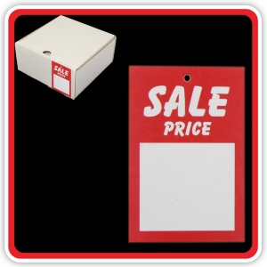 "UnStrung Sale Ticket ""SALE PRICE"" 75x50mm  - Bulk Box 1000"
