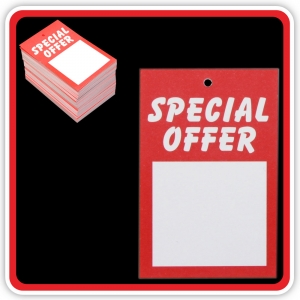 "UnStrung Sale Ticket ""SPECIAL OFFER"" 75x50mm  - Pack 100"