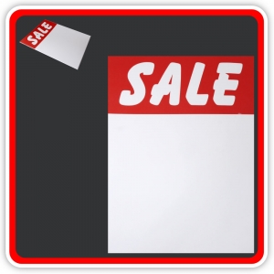"Sale Cards 'SALE' 250 x 200mm (10""x8"") - Pack 8"