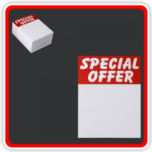 "Sale Cards 'SPECIAL OFFER' 75 x 50mm (3""x2"") - Pack 96"