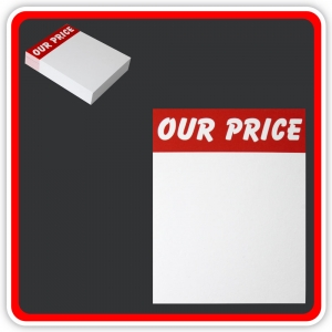 "Sale Cards 'OUR PRICE' 100 x 75mm (4""x3"") - Pack 48"