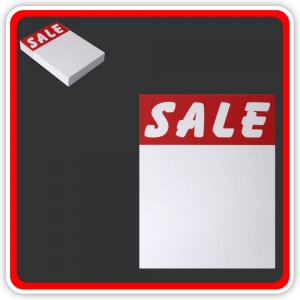 "Sale Cards 'SALE' 100 x 75mm (4""x3"") - Pack 48"