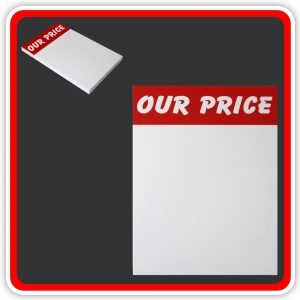 "Sale Cards 'OUR PRICE' 150 x 100mm (6""x4"") - Pack 24"
