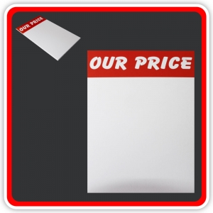 "Sale Cards 'OUR PRICE' 200 x 125mm (8""x5"")  - Pack 12"