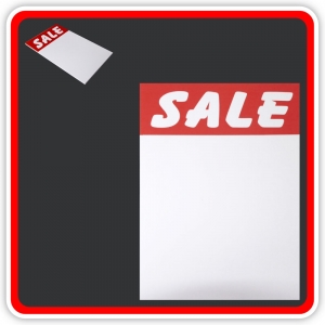 "Sale Cards 'SALE' 200 x 125mm (8""x5"") - Pack 12"