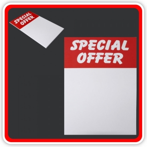 "Sale Cards 'SPECIAL OFFER' 200 x 125mm (8""x5"") - Pack 12"