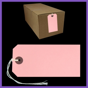 SupaTags Tags Size 5 120mm x 60mm Pink Recycled - Bulk Box 1000