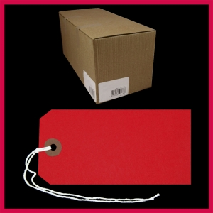 SupaTags Tags Size 5 120mm x 60mm Red Recycled - Bulk Box 1000