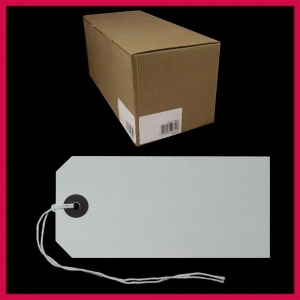 SupaTags Tags Size 5 120mm x 60mm White Recycled - Bulk Box 1000
