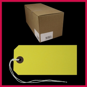 SupaTags Tags Size 5 120mm x 60mm Yellow Recycled - Bulk Box 1000