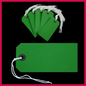 SupaTags Tags Size 5 120mm x 60mm Green Recycled - Pack 50