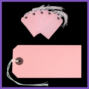 SupaTags Tags Size 5 120mm x 60mm Pink Recycled - Pack 50