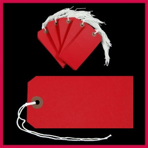 SupaTags Tags Size 5 120mm x 60mm Red Recycled - Pack 50
