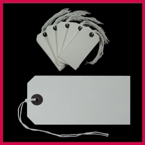 SupaTags Tags Size 5 120mm x 60mm White Recycled - Pack 50