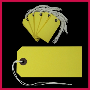 SupaTags Tags Size 5 120mm x 60mm Yellow Recycled - Pack 50